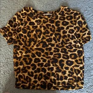 Cheetah print t shirt